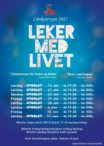 Plakat lånkerevyen 2017